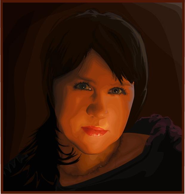 Фонарик,(портрет дочери ) Илл.цс 3