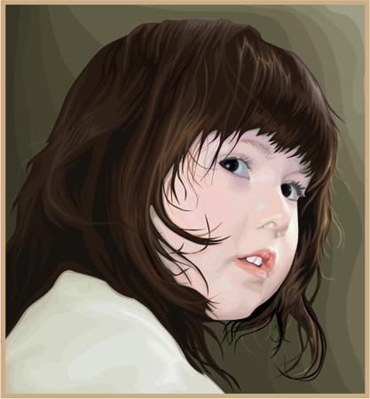 Портрет внучки .Илл.