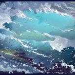 Не спокойно синее море....