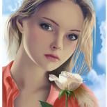 Портрет с розой 2