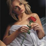 Портрет с розой