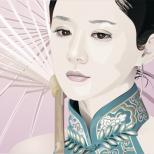 Зонт , японка и слеза