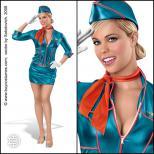Pin-up Stewardess