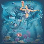 Русалка и дельфины