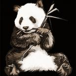 """""""панда"""" (шариковая ручка, карандашь Photoshop)"""